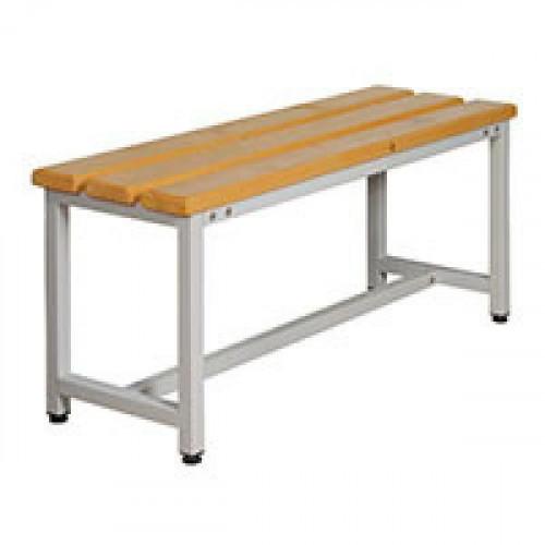 Скамья деревянная СК-1-1500 на металлокаркасе сосна 1500х350х480 мм