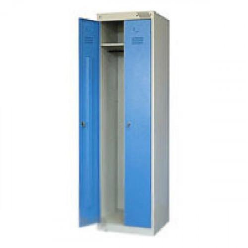 Металлический шкаф для одежды ШРЭК-22-500 500х490х1850 мм 2 отделения