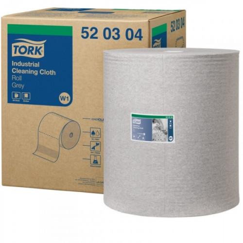 Нетканый материал повышенной прочности для уборки Tork W1/W2 серый 361 метр в рулоне