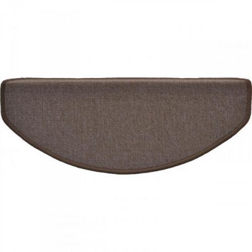 Коврик для лестницы укрепленный клейкий угол 650x250 мм коричневый
