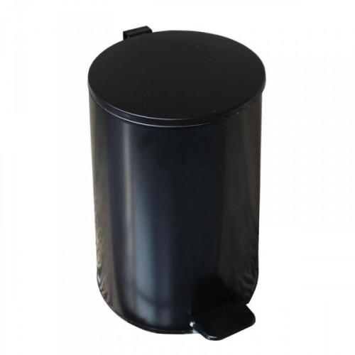 Урна с педалью стальная черная 250x400 мм 20 литров