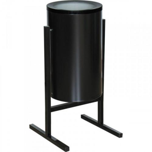 Урна стальная черная 300х510 мм объемом 36 литров