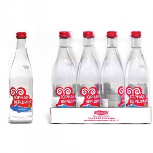 Вода минеральная Горная вершина газированная 0.5 литра 12 штук в упаковке