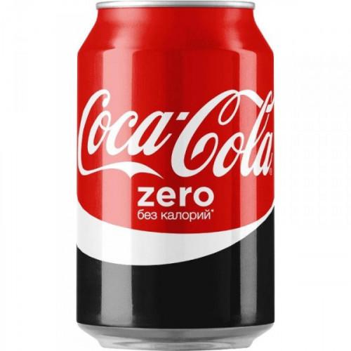 Напиток Coca-Cola Zero газированный 0.33 литра
