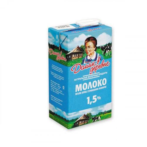 Молоко Домик в деревне ультрастерилизованное 1,5% 950 грамм
