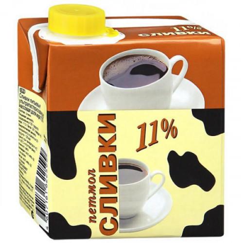 Сливки Петмол ультрапастеризованные 11% 0,5 литра