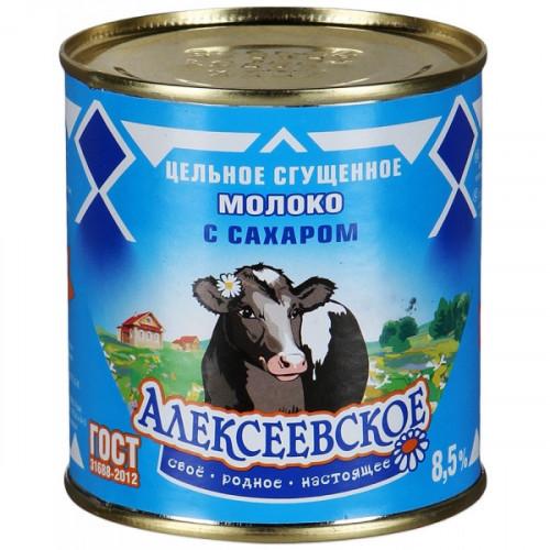 Молоко сгущенное Алексеевское с сахаром 8,5% 380 грамм
