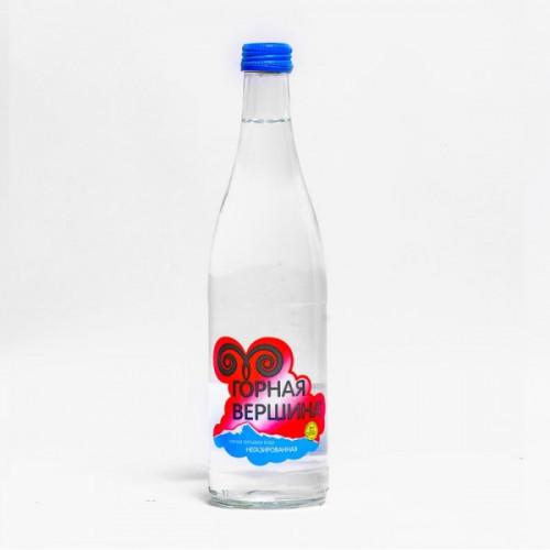 Вода минеральная Горная вершина негазированная 0.5 литра стекло 12 штук в упаковке