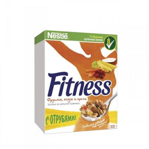 Хлопья Nestle Fitness & Fruits с фруктами ягодами и орехами 300 грамм