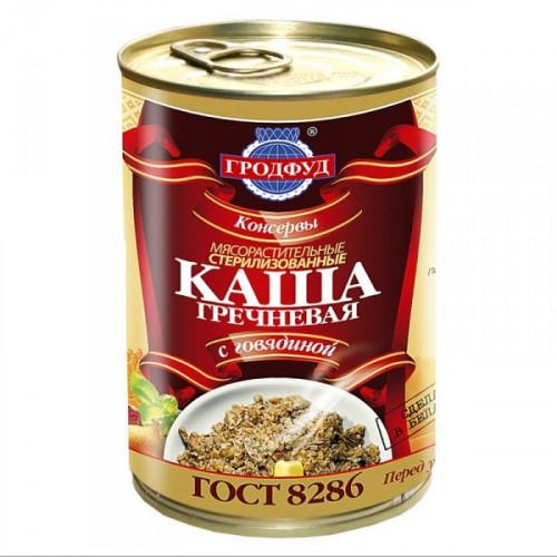 Каша Гродфуд гречневая с говядиной 340 грамм
