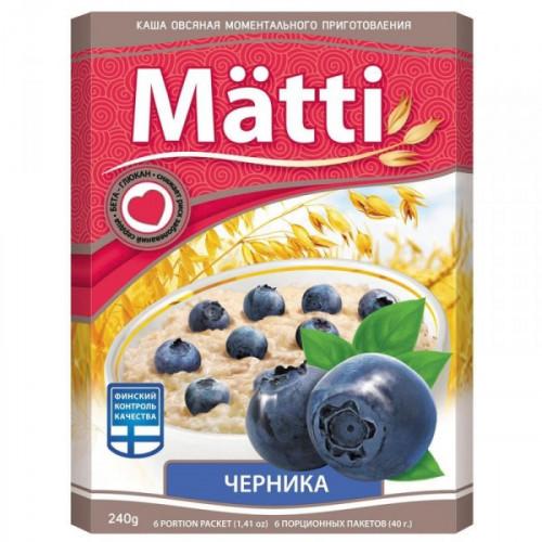 Каша Matti Черника 6 штук по 40 грамм