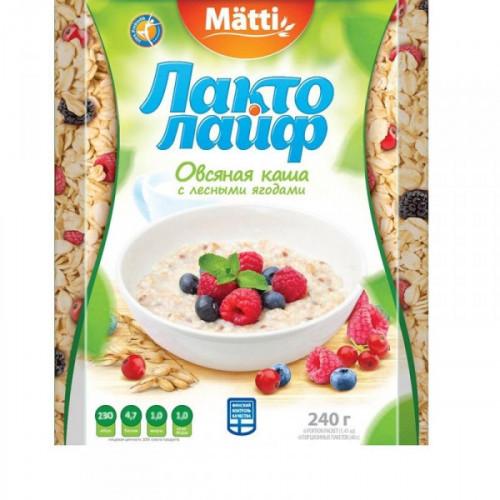 Каша Matti Лактолайф Лесные ягоды 6 штук по 40 грамм