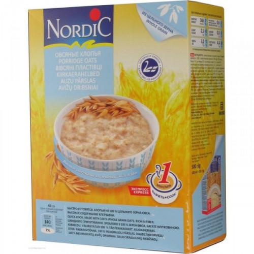 Каша Nordic овсяная быстрого приготовления 500 грамм