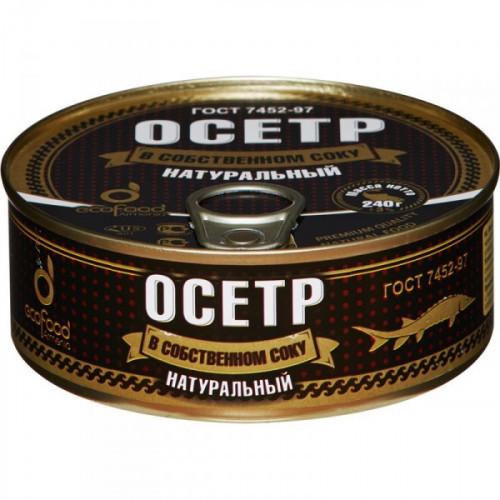 Осетр Эко Фуд в собственном соку 240 грамм
