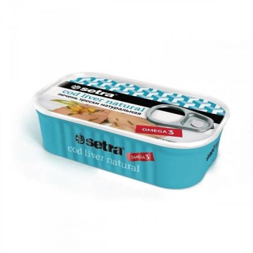 Печень трески натуральная Setra 120 грамм
