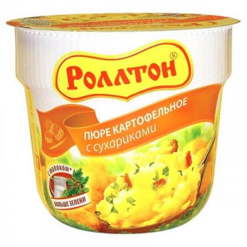 Картофельное пюре Роллтон с сухариками 24 штуки по 40 грамм