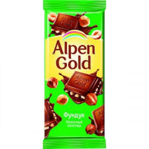 Шоколад Alpen Gold молочный с фундуком 90 грамм