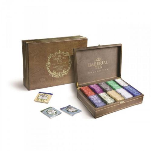Чай Императорский ассорти в деревянной шкатулке 250 пакетиков