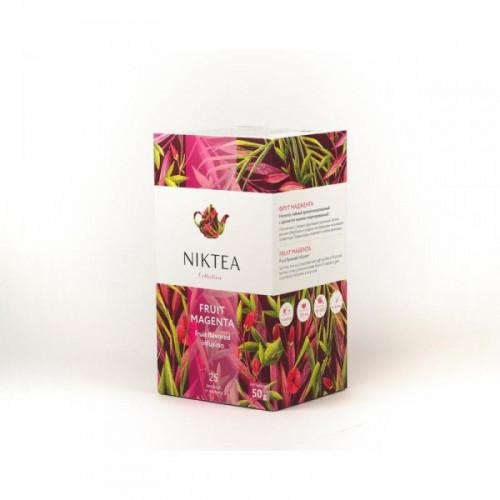 Чай NIKTEA Фрут Маджента фруктовый с ароматом малины 25 пакетиков