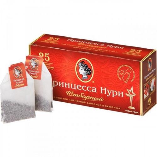 Чай Принцесса Нури Цейлонский Отборный черный 2 упаковки по 25 пакетиков