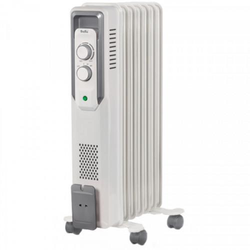 Радиатор масляный 1500Вт Ballu, 7 секций, до 20 м2, механический тип, белый