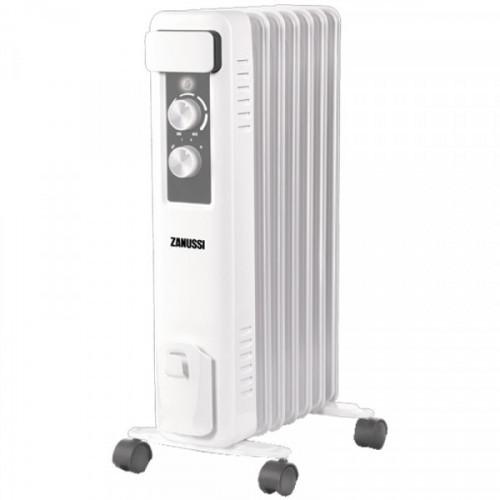 Радиатор масляный 1500Вт Zanussi Casa, 7 секций, до 20 м2, механический тип, белый