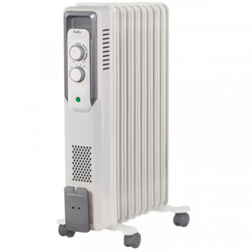 Радиатор масляный 2000Вт Ballu, 9 секций, до 25 м2, механический тип, белый