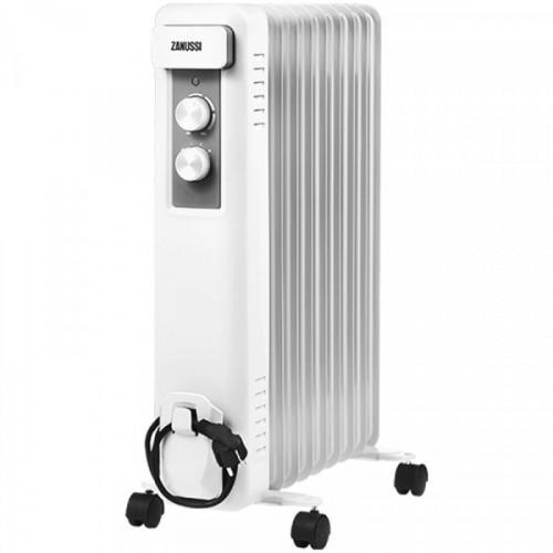 Радиатор масляный 2000Вт Zanussi Casa, 9 секций, до 25 м2, механический тип, белый