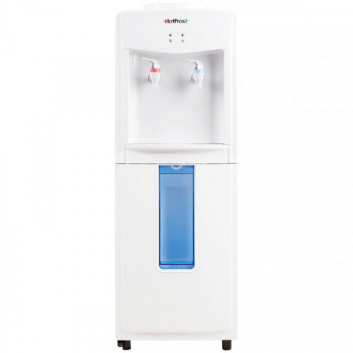 Кулер для воды напольный HotFrost V118F, нагрев/комнатная, отсек для стаканчиков, белый