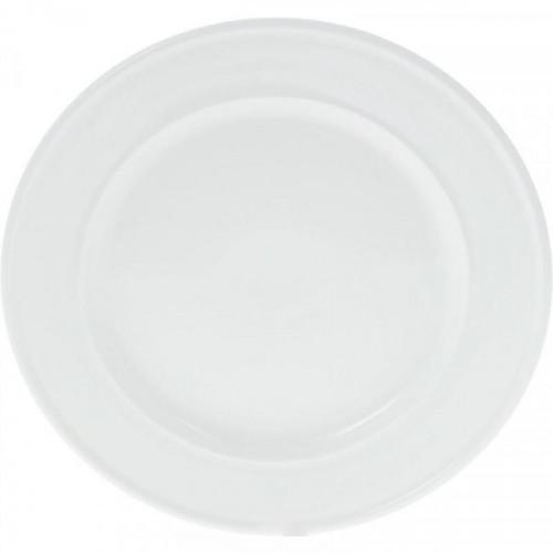 Тарелка обеденная Wilmax фарфоровая белая 25.5 см