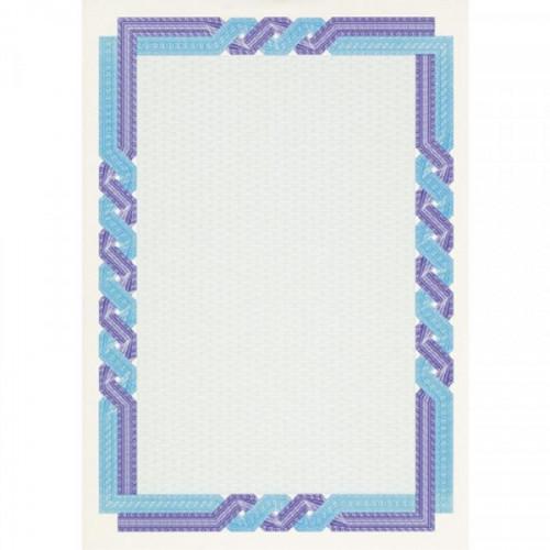 Сертификат-бумага DC-OSD4058 сине-голубой кручен рамка (А4,115г,уп.25л.)