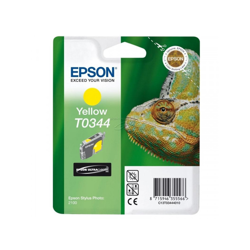 Картридж струйный Epson T0344 C13T03444010 желтый оригинальный
