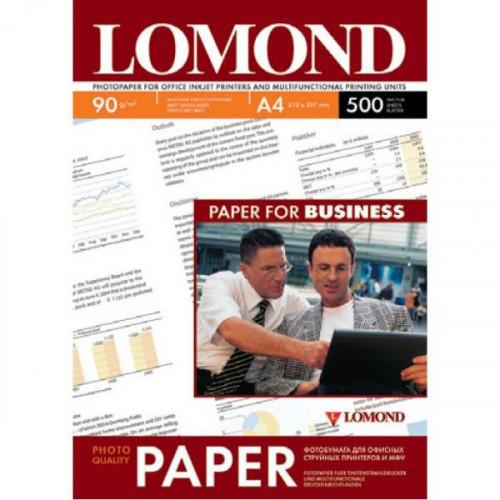 Бумага Lomond матовая односторонняя, А4, 90 г/м2, 500 листов, разрешение 2880 dpi