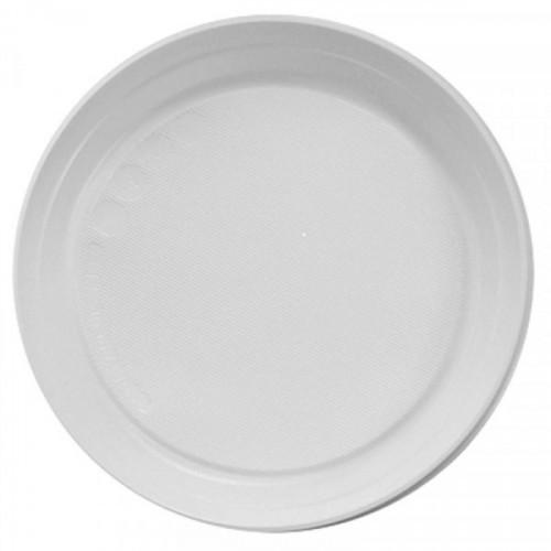 Тарелка одноразовая Huhtamaki пластиковая белая 220 мм 100 штук в упаковке