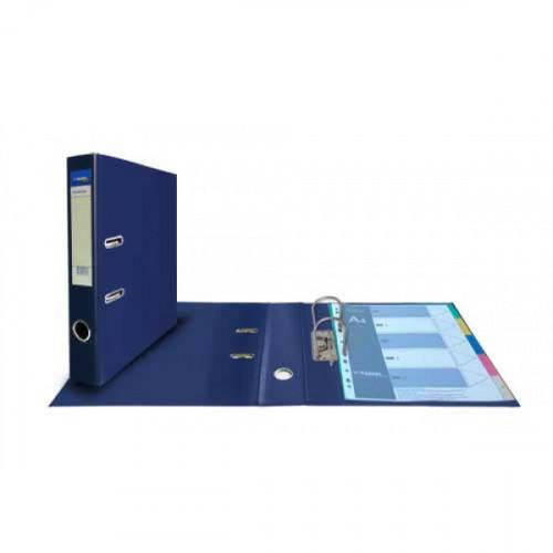 Папка с арочным механизмом 50 мм Premium синяя пвх/пвх