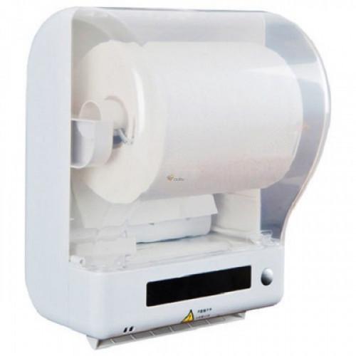 Держатель для рулонных полотенец KSITEX (Система Н1), сенсорный, от сети 220 В, белый, Z-1011