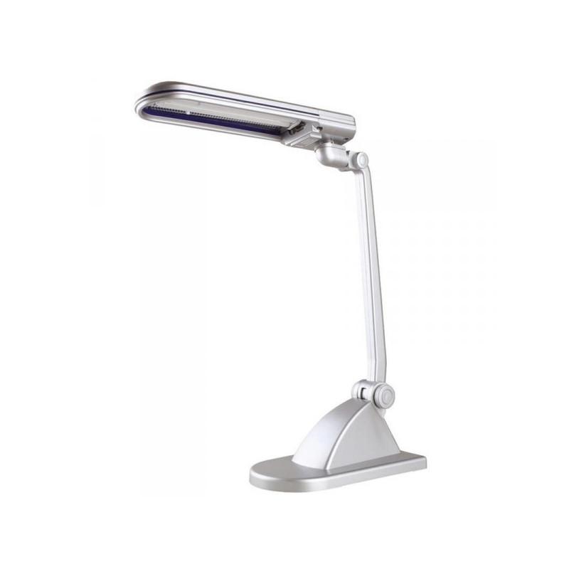 Светильник настольный люминесцентный Camelion KD-015 серебристый
