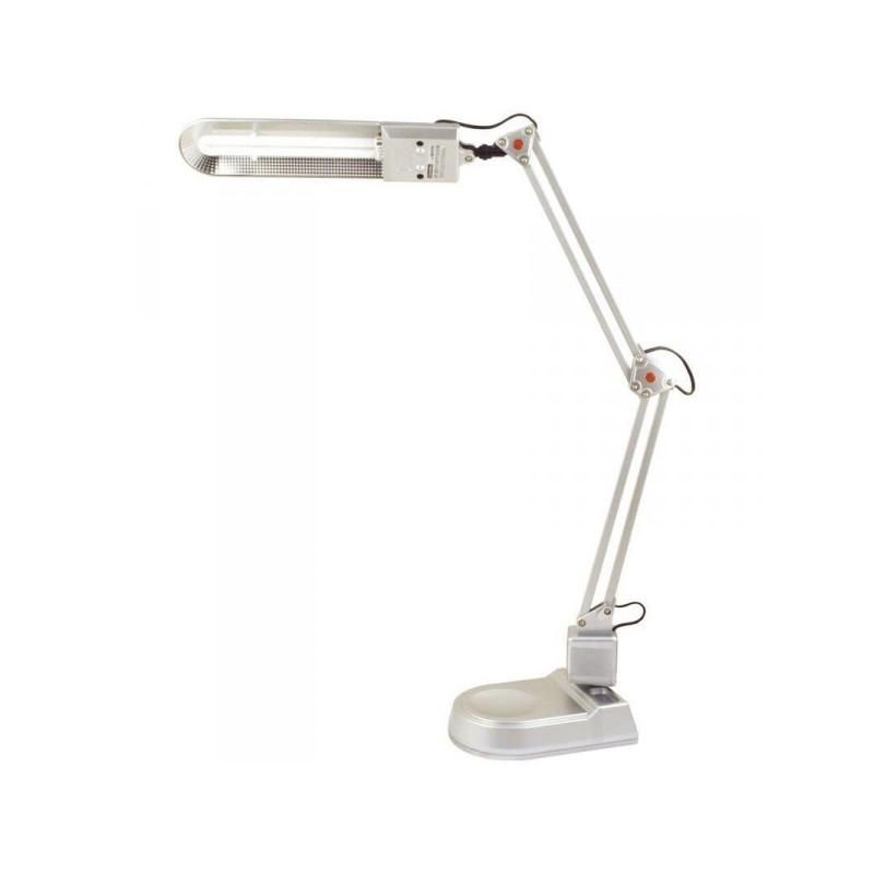 Светильник настольный люминесцентный Camelion KD-017A серебристый