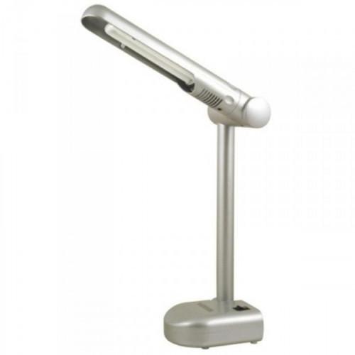 Светильник настольный люминесцентный Camelion KD-001 серебристый
