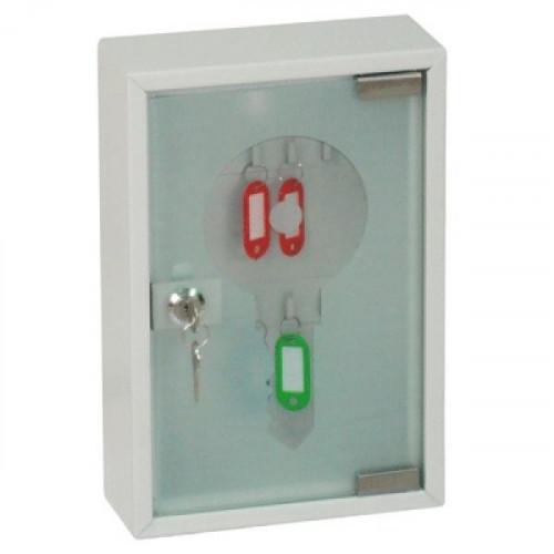 Шкаф для ключей Office-Force 20084 серый (на 20 ключей, металл/стекло)