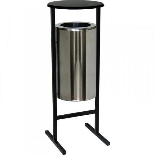 Урна стальная артикул СЛ-300Н хром 300х510 мм объем 36 литров