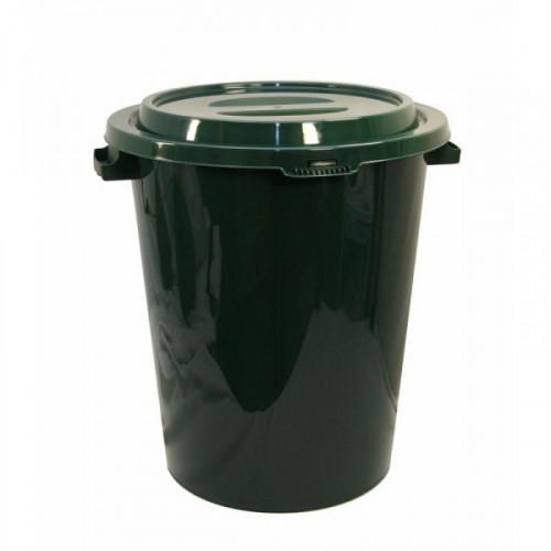 Бак для мусора 90 литров пластик зеленый