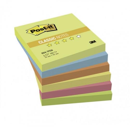 """Блок-кубик 3M 76х76 """"Теплая неоновая радуга"""" 6 блоков по 100 листов"""