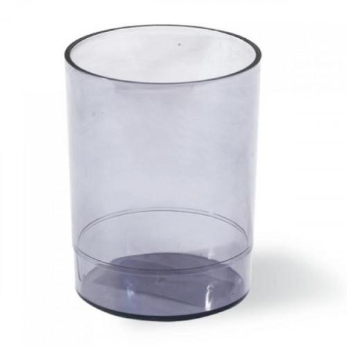 """Подставка-органайзер СТАММ """"Офис"""" (стакан для ручек) тонированная серая"""