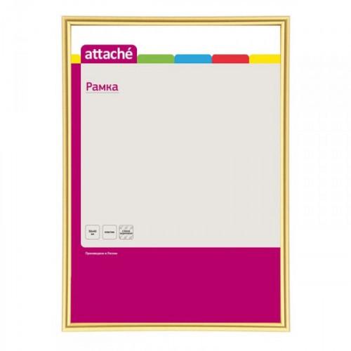 Рамка Attache А3 пластиковая золотистая багет 10 мм