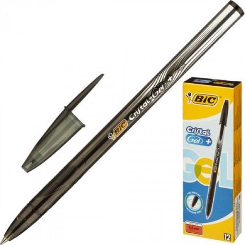 Ручка гелевая BIC Cristal черная с толщиной линии 0,3 мм