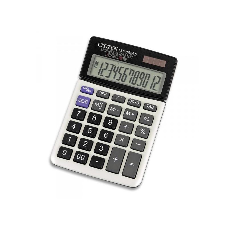 Калькулятор настольный Citizen MT-852AII 12-разрядный белый подвижный дисплей