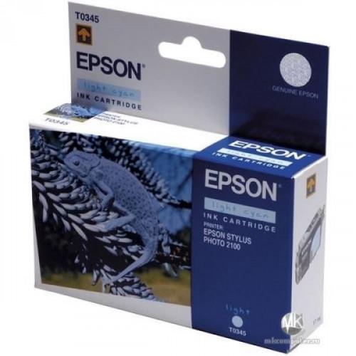 Картридж струйный Epson C13T034240 голубой оригинальный