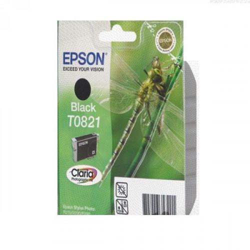 Картридж струйный Epson T0821 EPT08214A/C13T11214A10 черный оригинальный