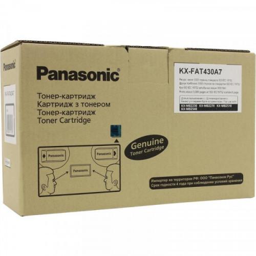 Тонер-картридж Panasonic KX-FAT430A7 черный оригинальный